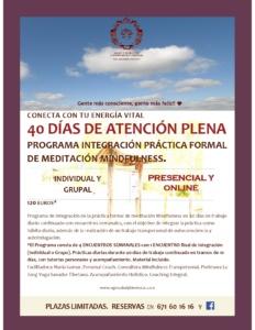 Programa Integración Práctica Formal Meditación Mindfulness.Nuria Gomar Mirallave.NGM Salud y Bienestar.
