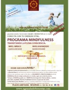 Programa Continuo Mindfulness en Zoom y en contacto con la naturaleza Torrente-Valencia. ngmsaludybienestar.com. Nuria Gomar Mirallave.